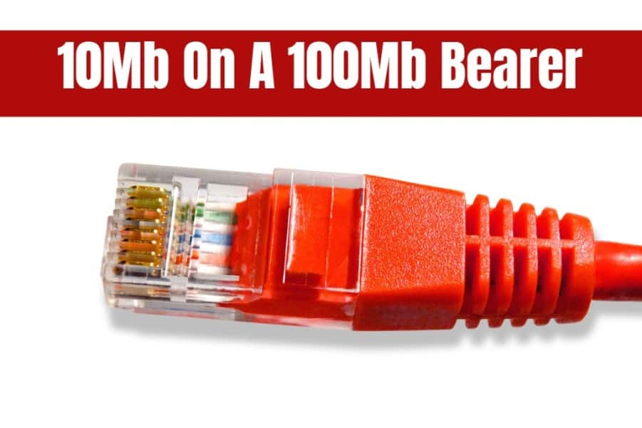 10mb on a 100mb bearer leased line image